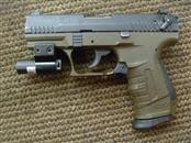 WALTHER ARMS P22 TWO-TONE PISTOL WITH LASER AND ONE MAGAZINE .22LR (NO CASE)
